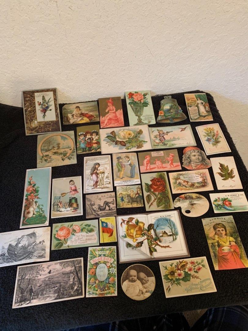 Lot # 12 See Lot 4 Description. Great Lot Antique Victorian Trade Cards