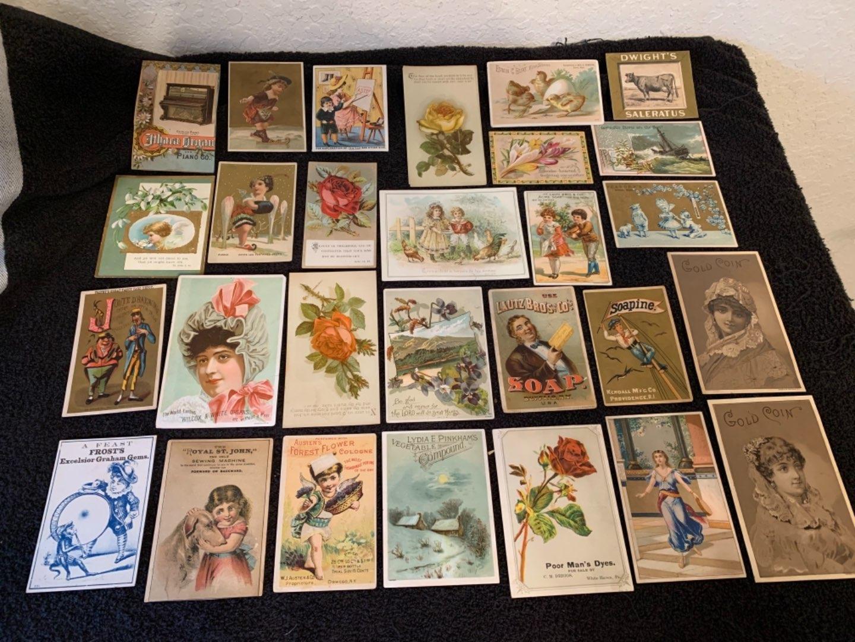 Lot # 14 See Lot 4 Description. Great Lot Antique Victorian Trade Cards