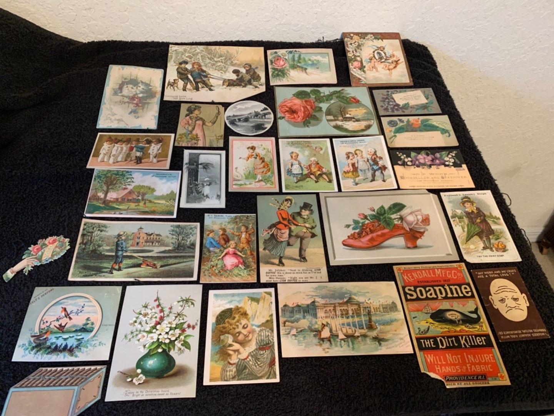 Lot # 15 See Lot 4 Description. Great Lot Antique Victorian Trade Cards