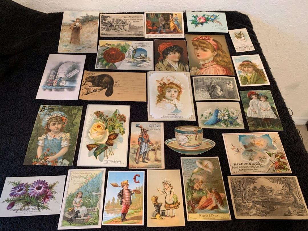 Lot # 16 See Lot 4 Description. Great Lot Antique Victorian Trade Cards