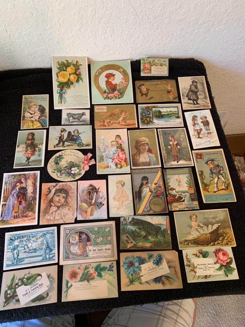 Lot # 17 See Lot 4 Description. Great Lot Antique Victorian Trade Cards