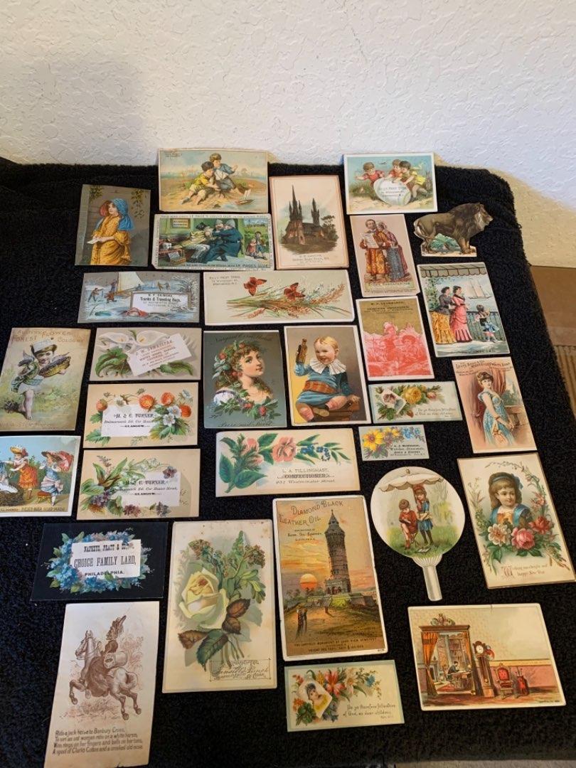 Lot # 25 See Lot 4 Description. Great Lot Antique Victorian Trade Cards