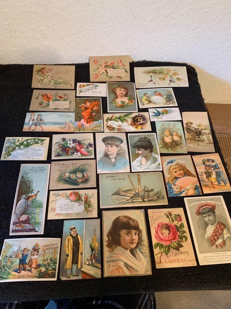 Lot # 26 See Lot 4 Description. Great Lot Antique Victorian Trade Cards