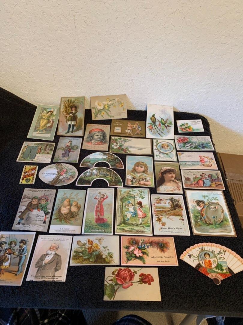 Lot # 27 See Lot 4 Description. Great Lot Antique Victorian Trade Cards