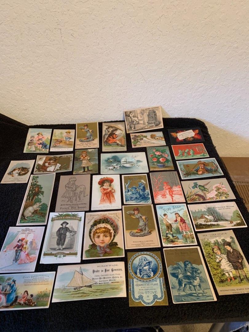 Lot # 28 See Lot 4 Description. Great Lot Antique Victorian Trade Cards