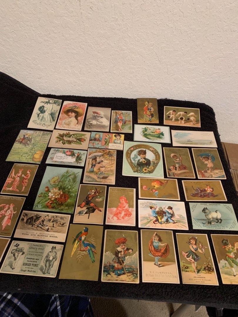 Lot # 30 See Lot 4 Description. Great Lot Antique Victorian Trade Cards