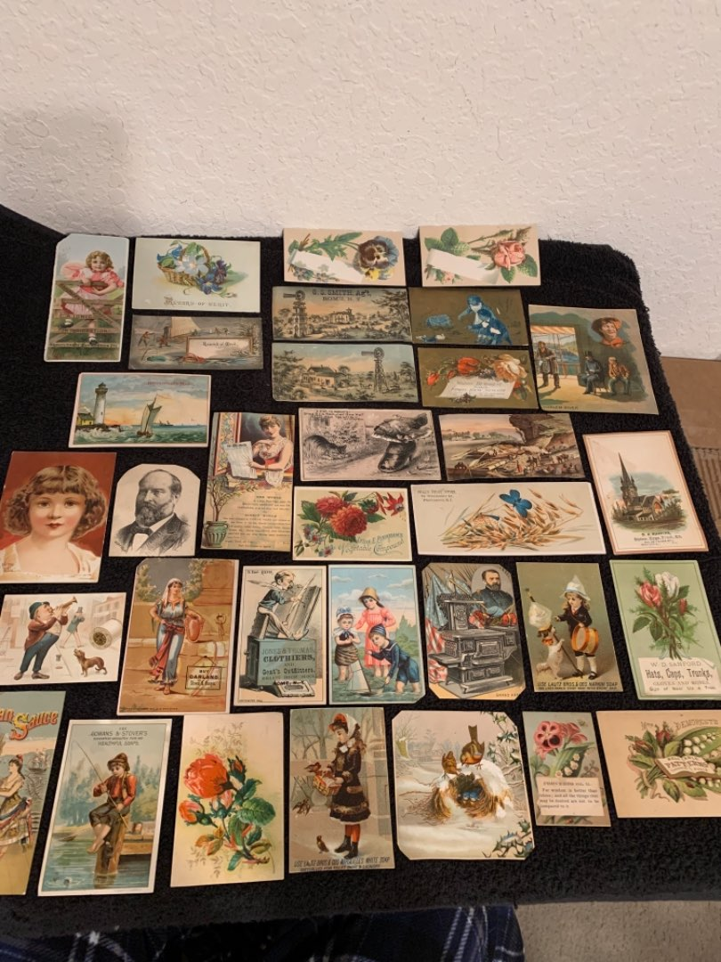 Lot # 31 See Lot 4 Description. Great Lot Antique Victorian Trade Cards