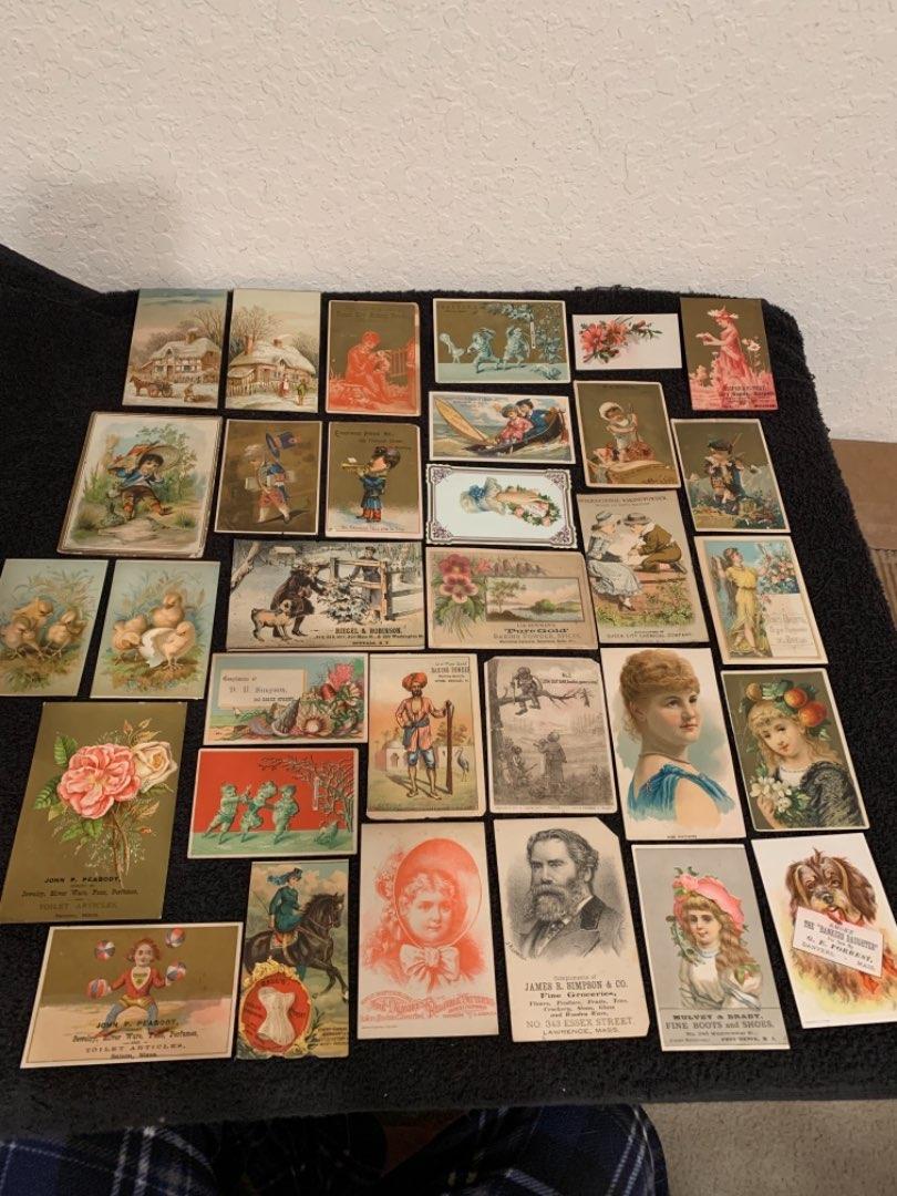 Lot # 32 See Lot 4 Description. Great Lot Antique Victorian Trade Cards