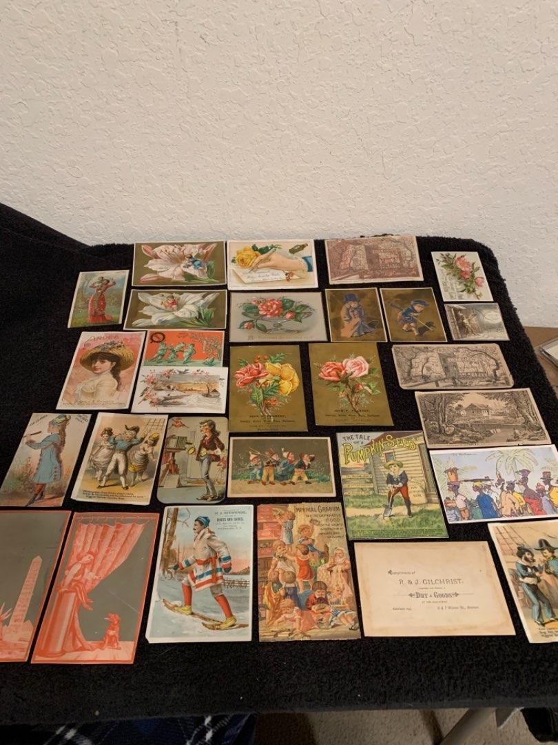 Lot # 33 See Lot 4 Description. Great Lot Antique Victorian Trade Cards