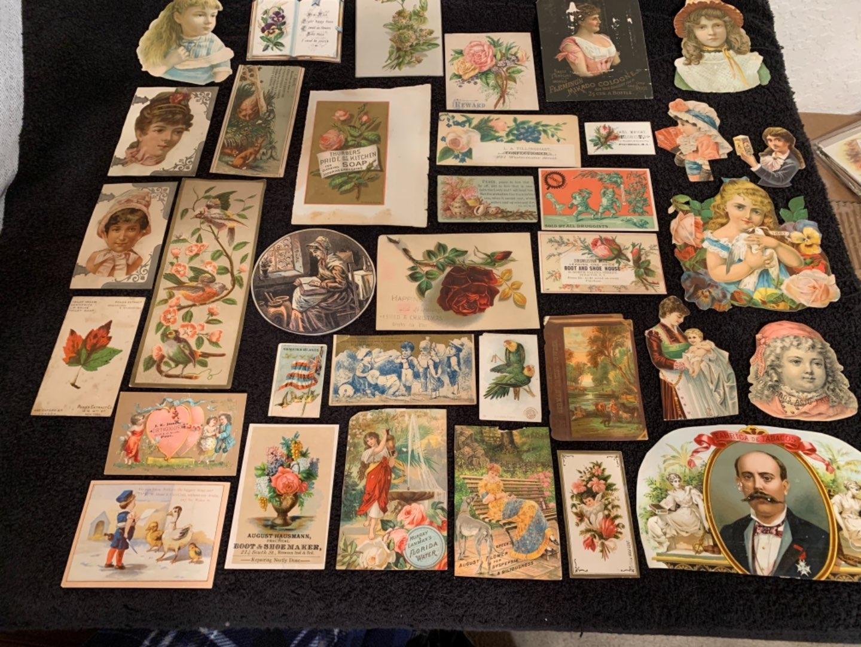 Lot # 34 See Lot 4 Description. Great Lot Antique Victorian Trade Cards