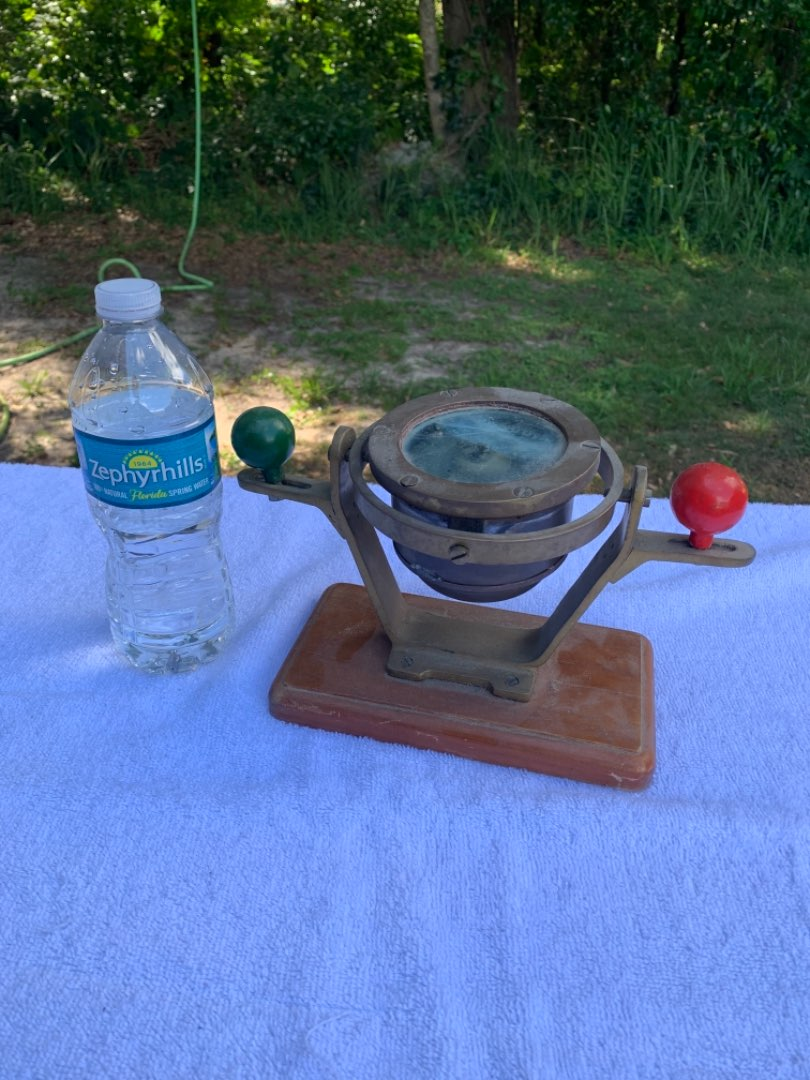 Lot # 49  WOW!! Very Rare Antique Coubro & Scrutton Binnacle Compass. See Below