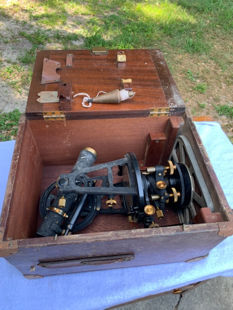 Lot # 64  Vintage Heavy & Solid Dietzgen Transit Surveying Instrument. See Below