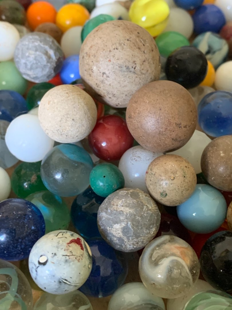 Lot # 71  Another Lot Old Marbles. See Lot 68 Description