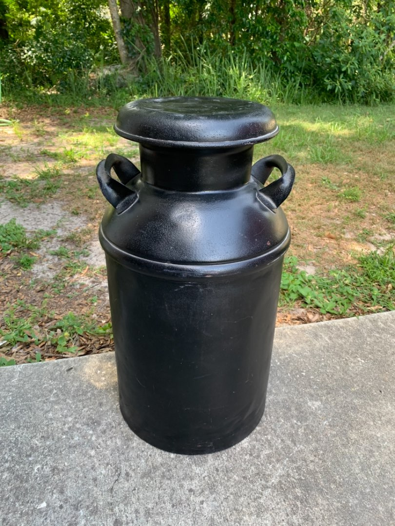 Lot # 72  Great Condition Full Size Vintage Milk Can