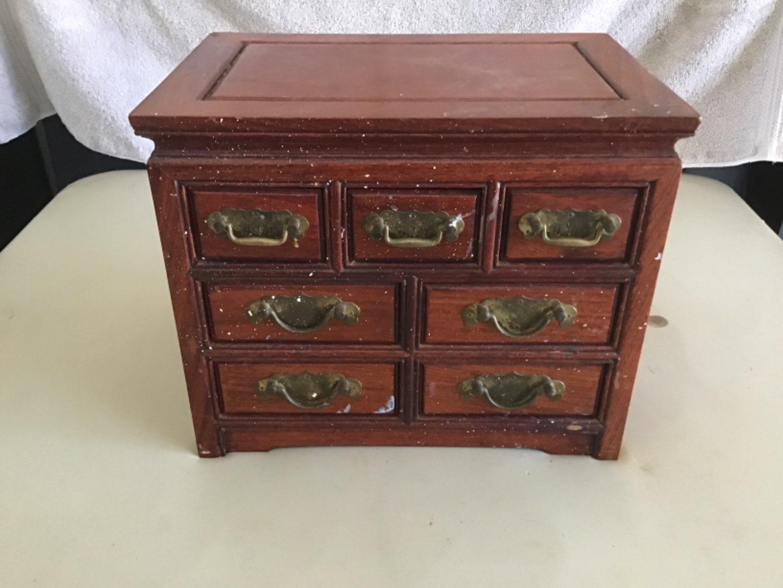 """Lot # 80 Beautiful Jewelry Box 10""""T X 12""""W X 8""""D - Padded Drawers-See Below"""