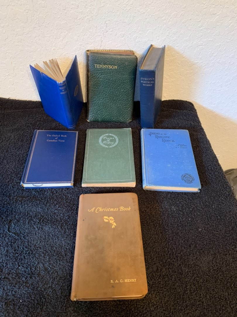 Lot # 89   Lot Of 7 Old Books; Mostly Poems. See Pics