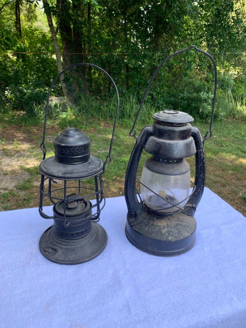 Lot # 95 Lot Of 2 Old Lanterns. Embury Air Pilot & Dietz. See Below