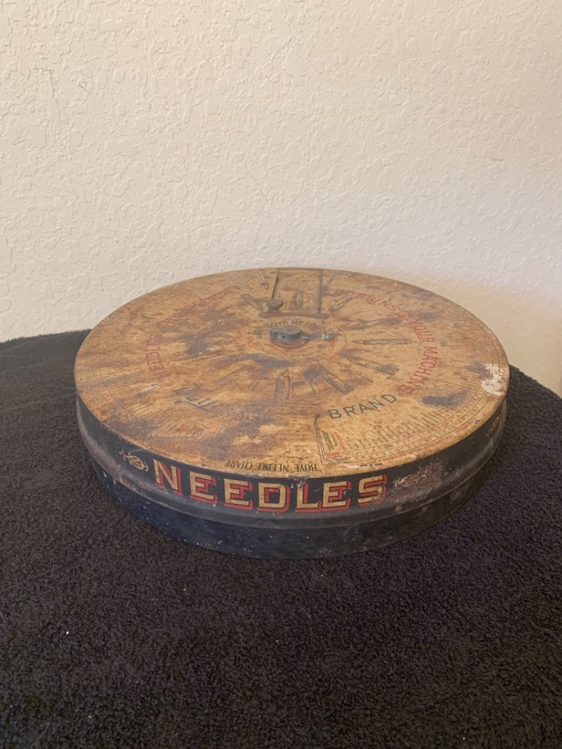 Lot # 105 WOW! Another Great Find! Antique Boye Needle Co Rotary Store Display Case. See Below