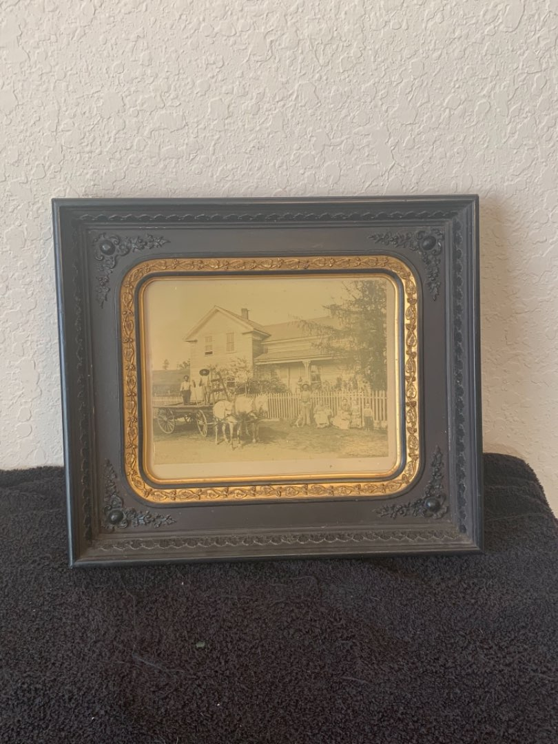 Lot # 106 Incredible Antique 1870's Real Photo In Original Incredible Deep Frame. Northern Survey Co. Albany, NY. See Below
