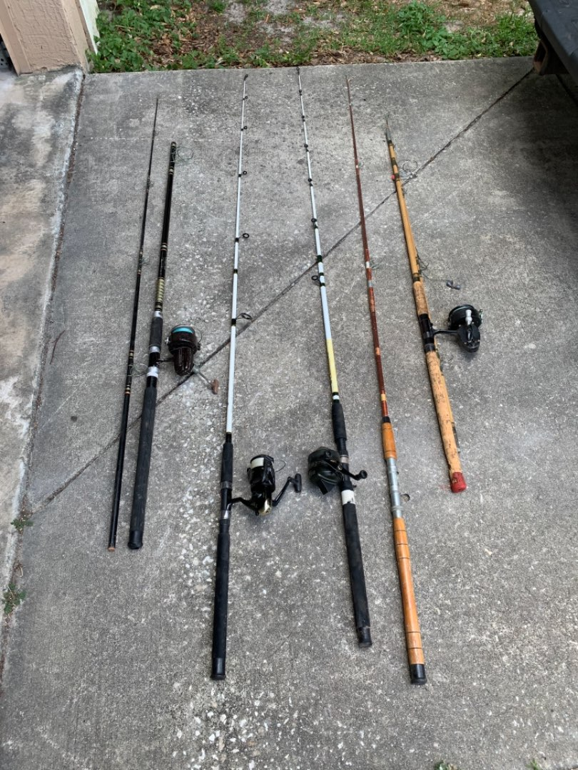 Lot # 114  Lot Assorted Rods & Reels. See Below