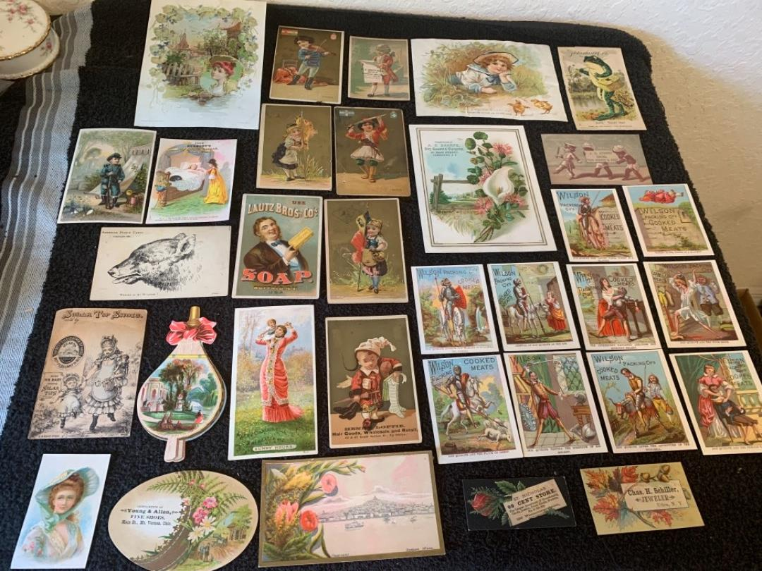 Lot # 131 Great Lot Antique Victorian Trade Cards. See #4 Description
