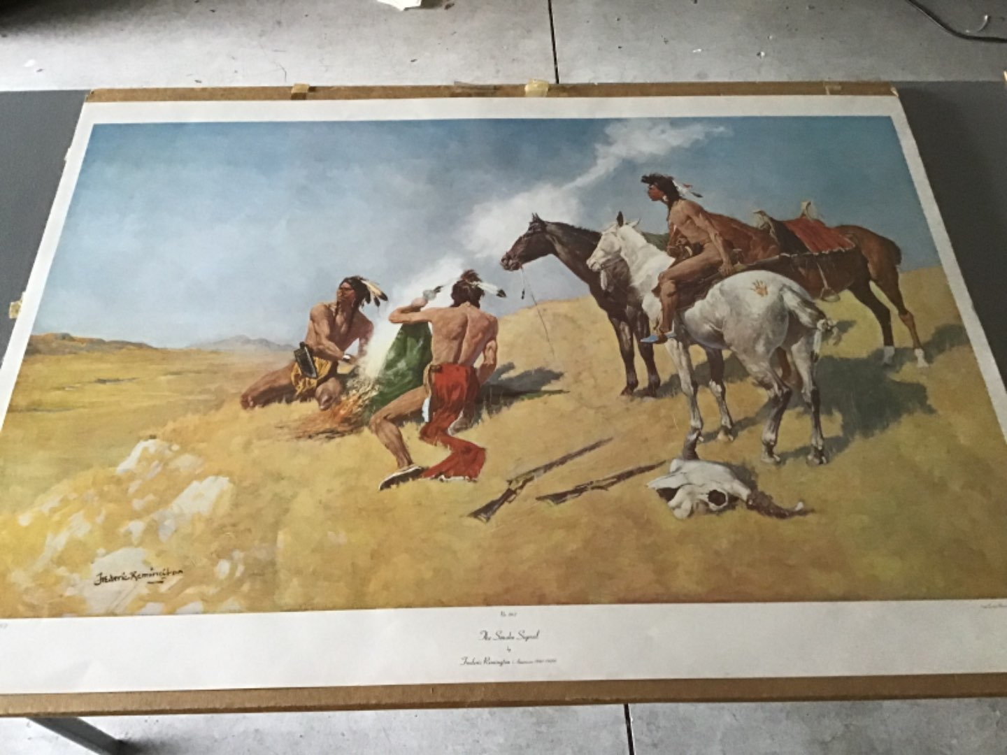 Lot # 139 FREDERIC REMINGTON Print - The Smoke Signal - See Descip in Lot 137