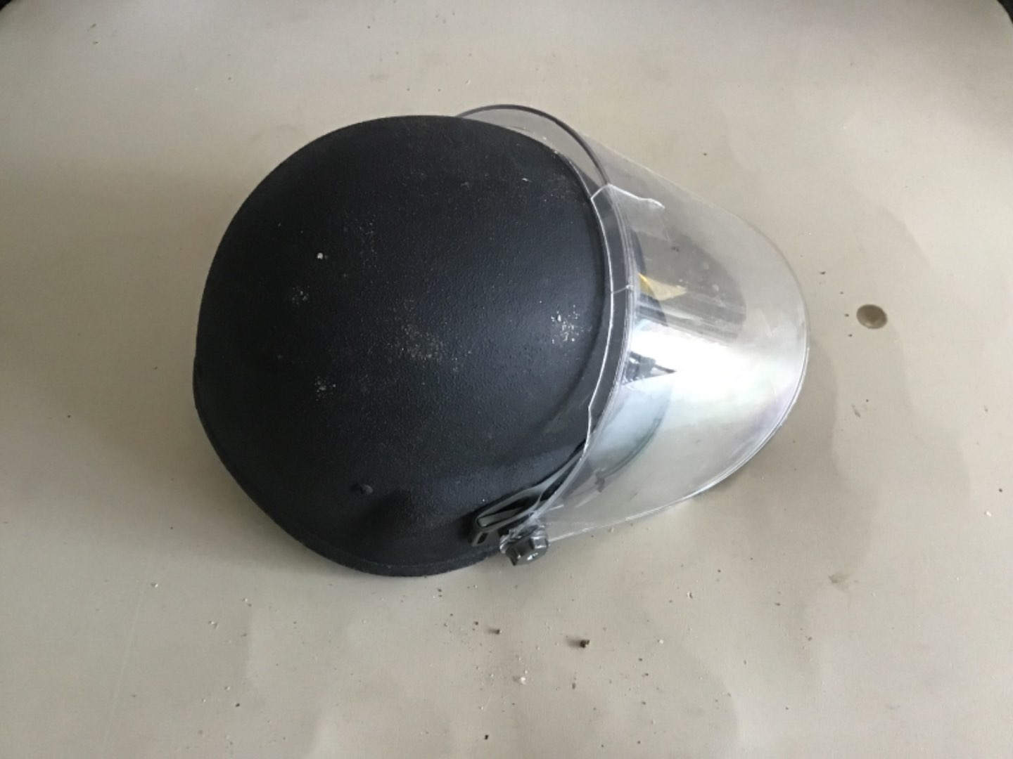 Lot # 148 US MILITARY or Riot Police Helmet w/shield - See Descrip in Lot 142