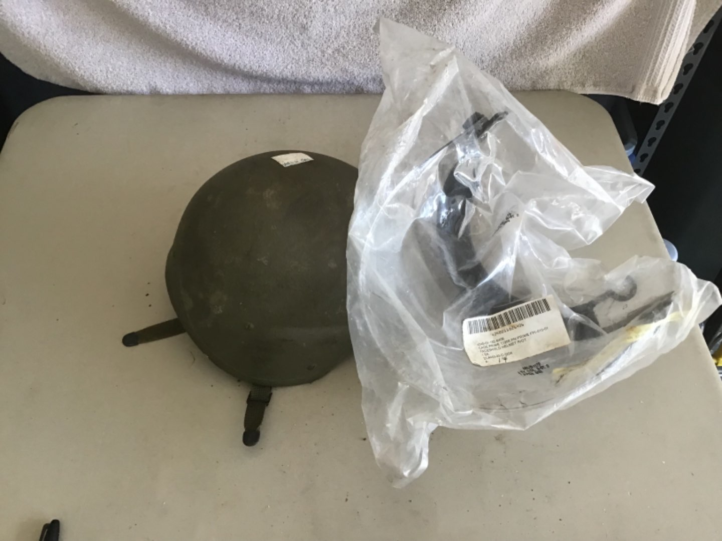 Lot # 151 US MILITARY OR RIOT POLICE HELMET W/SHIELD  - See Descrip in Lot 142