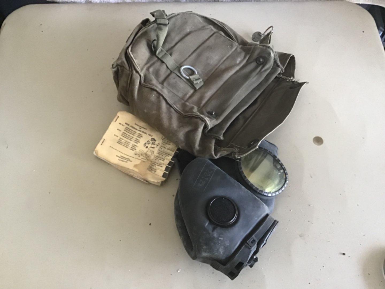 Lot # 156 M17 Military Grade Gas Mask w/Protective Bag, Shoulder Strap, etc! See Descrip in Lot 155