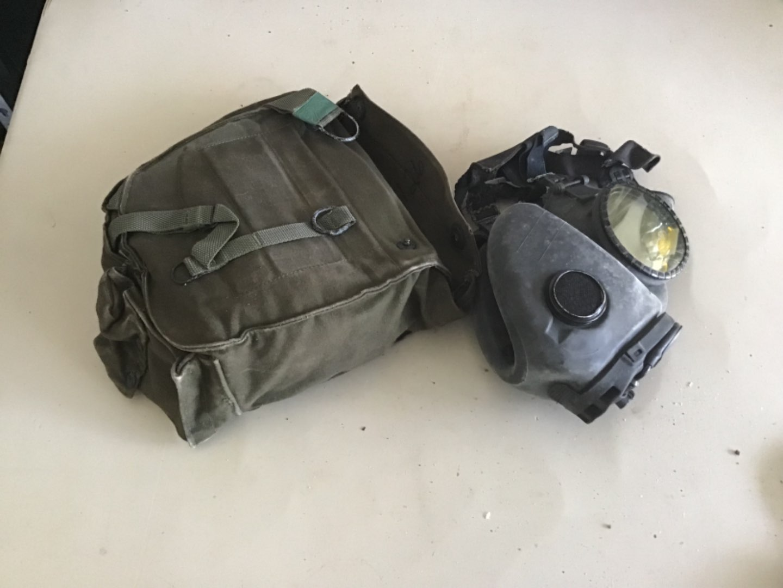 Lot # 157 M17 Military Grade Gas Mask w/Protective Bag, Shoulder Strap, etc! See Descip in Lot 155