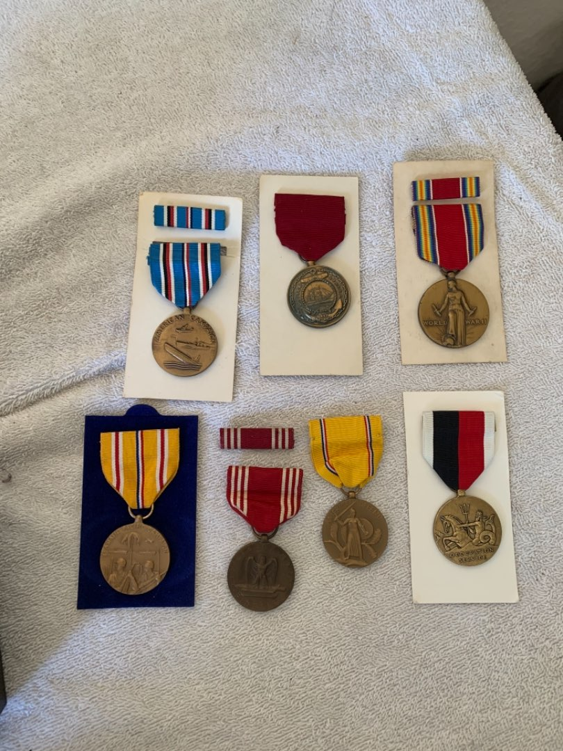 Lot # 162 Very Nice Collection WW2 Medals. See Pics For Description