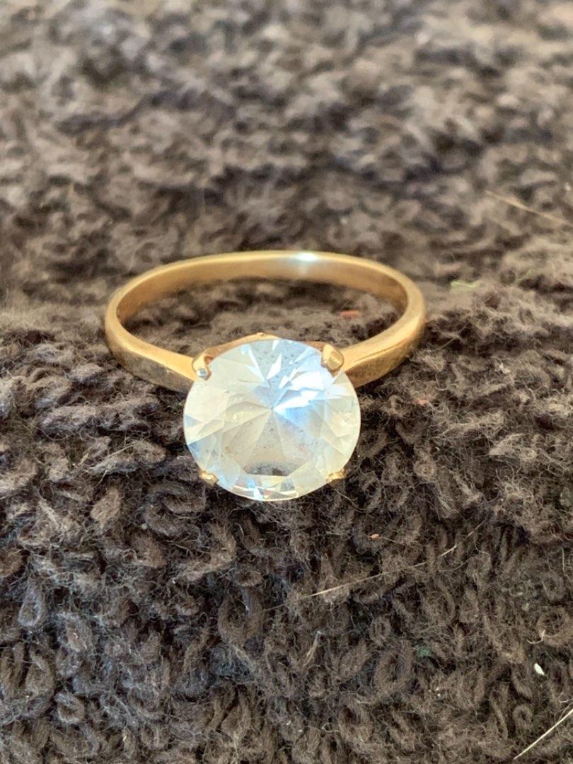 Lot # 167 Vintage Stamped 10K Size 7 1/2 Ring. 2.26 Grams. See Below
