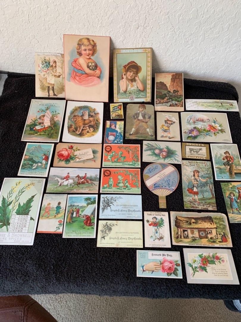 Lot # 170 Great Lot Antique Trade Cards. See Lot #4 Description