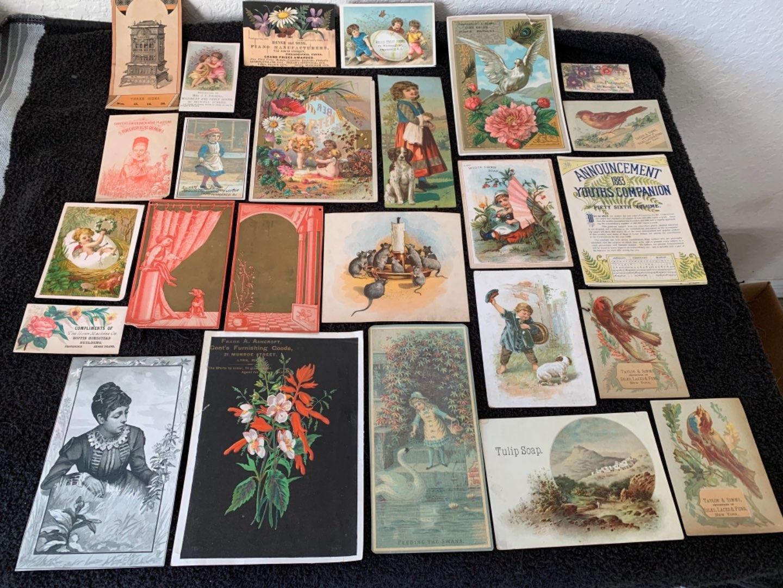 Lot # 171 Great Lot Antique Victorian Trade Cards. See Lot #4 Description