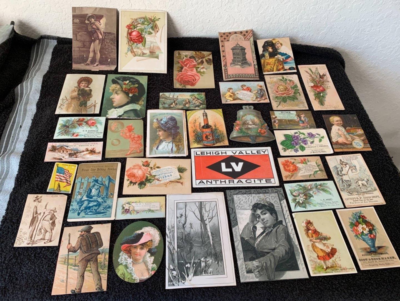 Lot # 172 Great Lot Antique Victorian Trade Cards. See Lot #4 Description