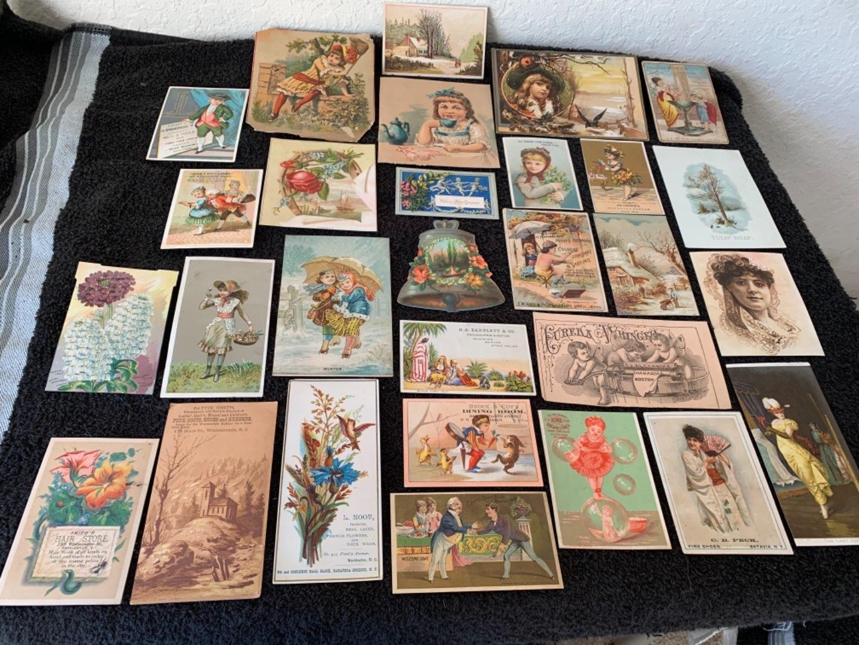 Lot # 173 Great Lit Antique Victorian Trade Cards. See #4 Description