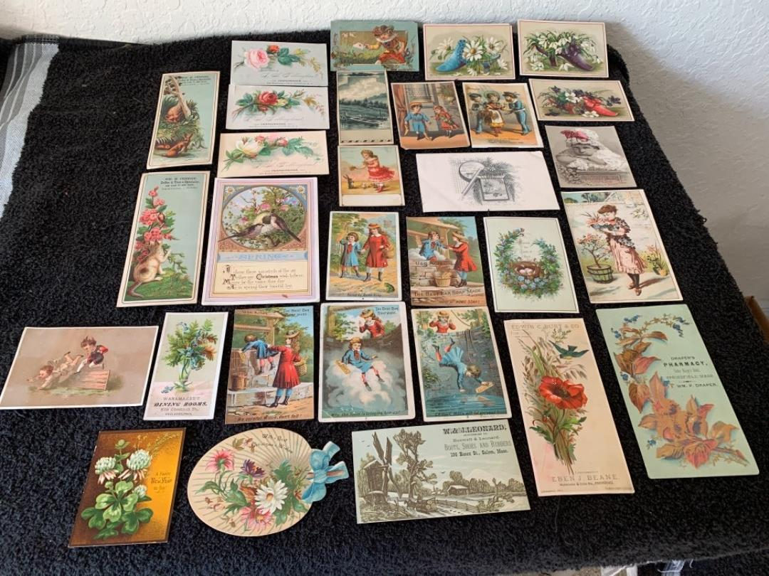 Lot # 175 Great Antique Victorian Trade Cards. See Lot #4 Description