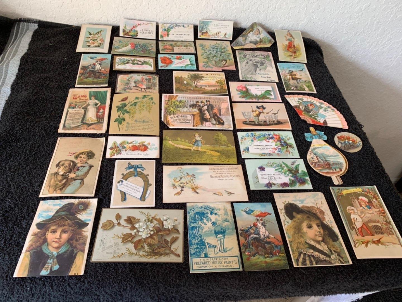 Lot # 176 Great Lot Antique Victorian Trade Cards. See Lot #4 Description