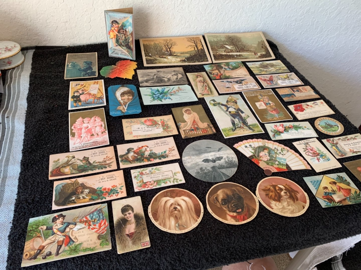 Lot # 178 Great Lot Antique Victorian Trade Cards. See #4 Description