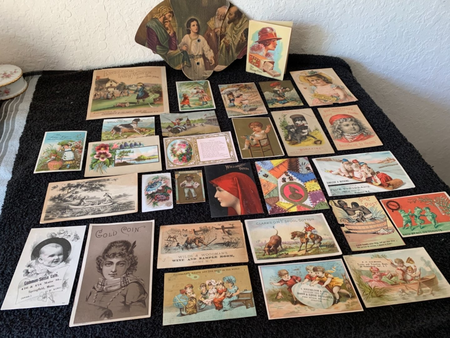 Lot # 180 Great Lot Antique Victorian Trade Cards. See #4 Description