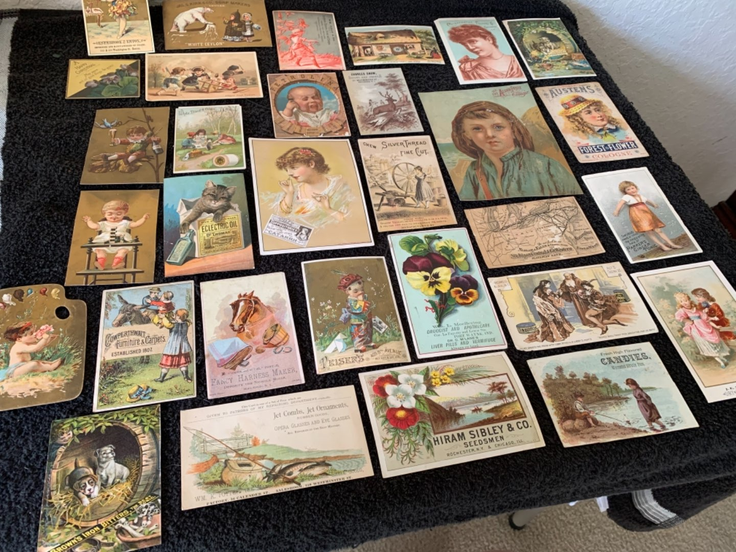 Lot # 181 Great Antique Victorian Trade Cards. See #4 Description