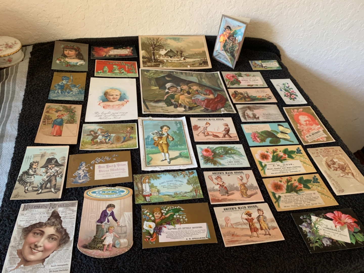 Lot # 182 Great Lot Antique Victorian Trade Cards. See #4 Description