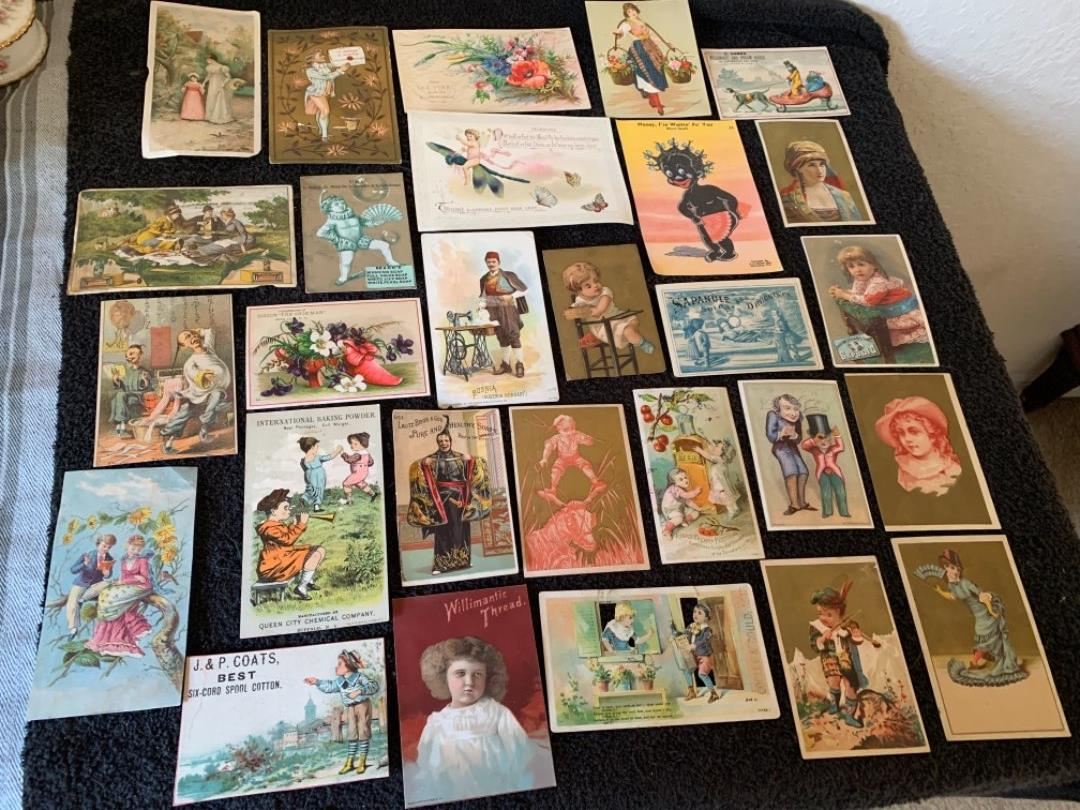 Lot # 183 Great Antique Victorian Trade Cards. See #4 Description