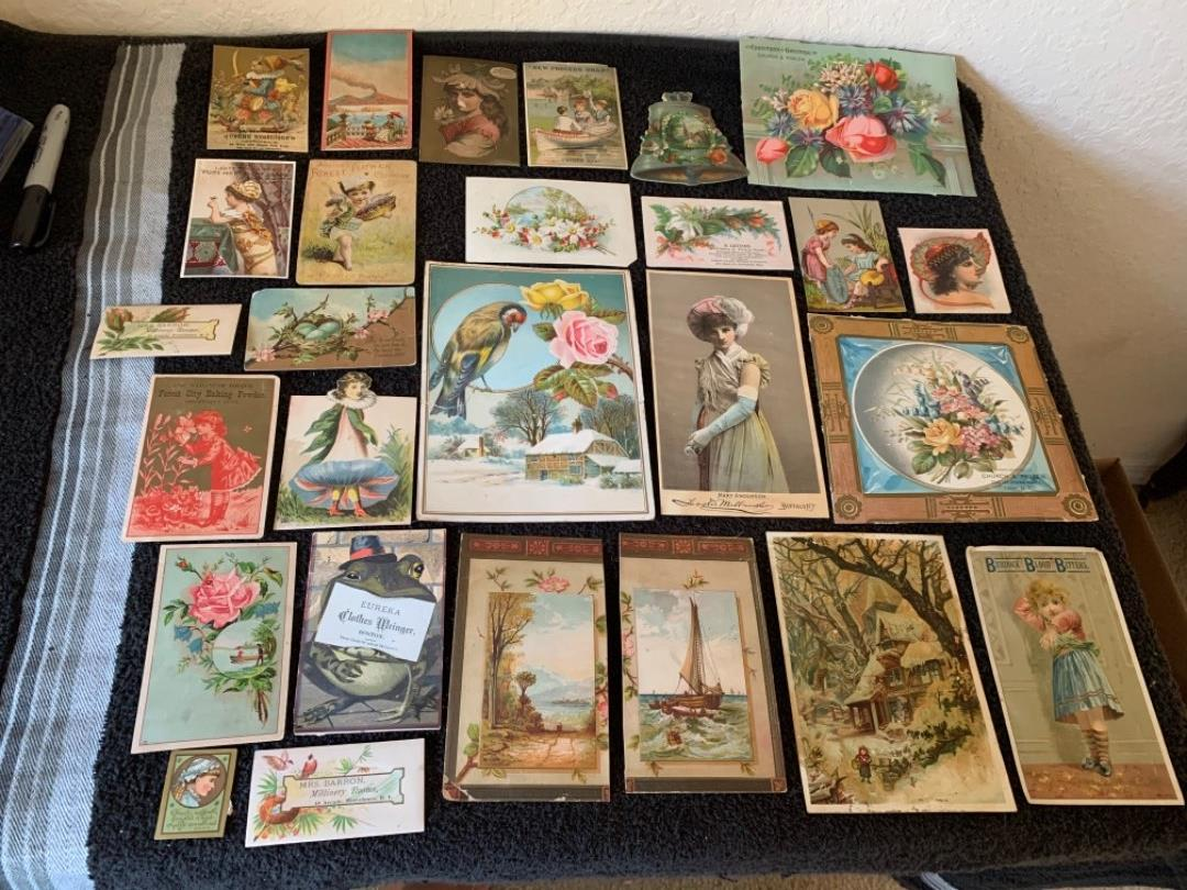 Lot # 185 Great Antique Victorian Trade Cards. See #4 Description