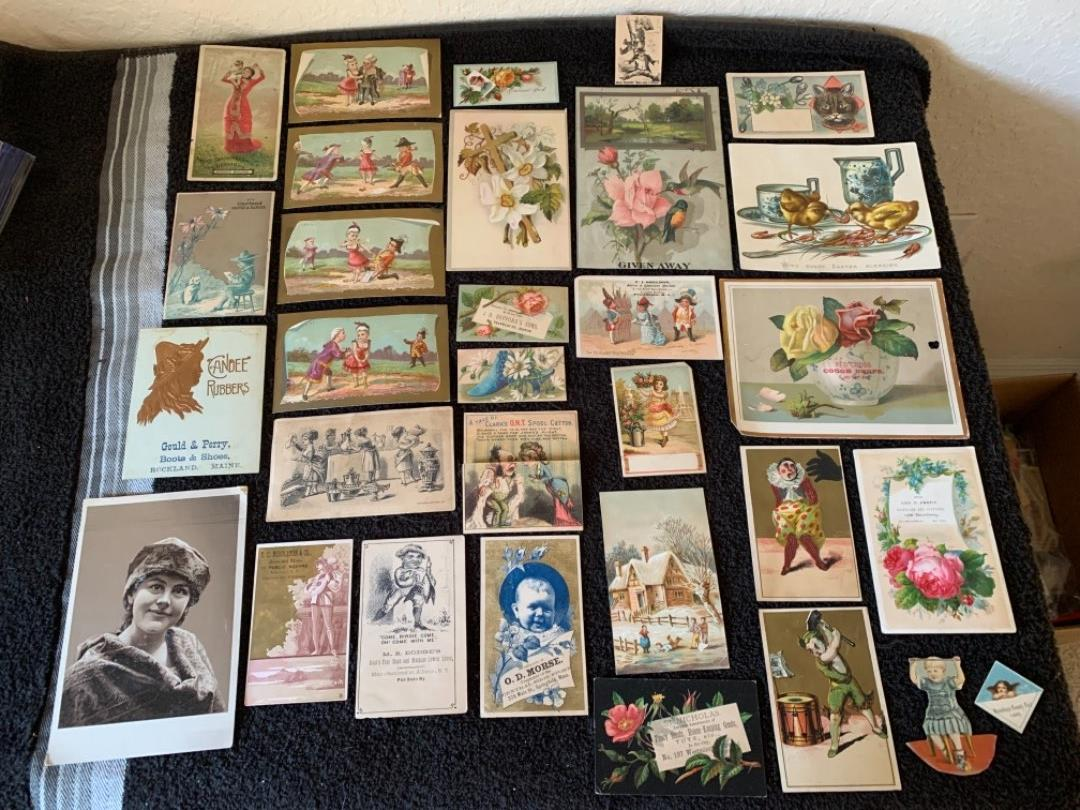 Lot # 186 Great Lot Antique Victorian Trade Cards. See #4 Description