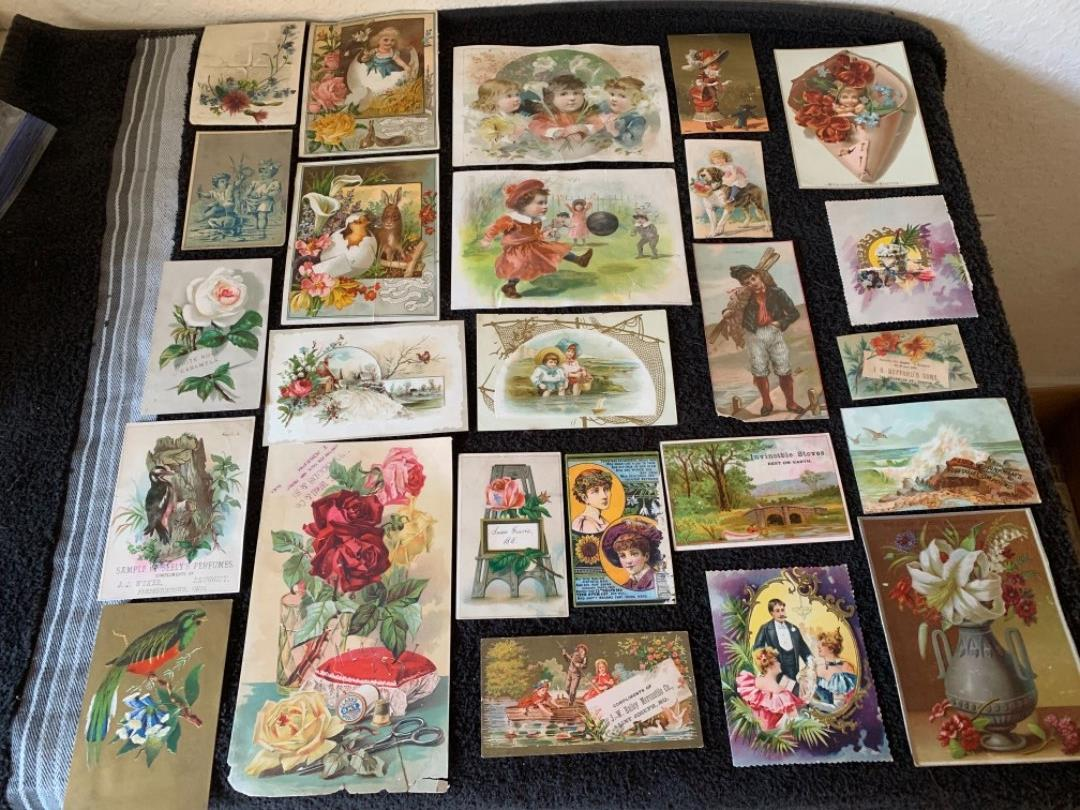 Lot # 187 Great Antique Victorian Trade Cards. See #4 Description