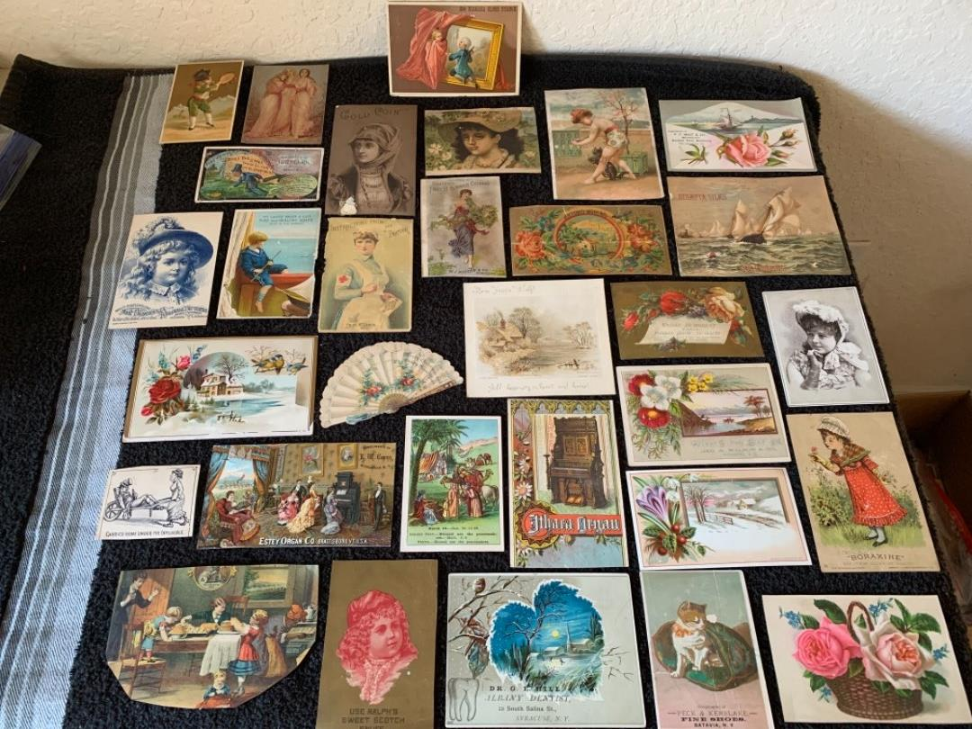 Lot # 188 Great Antique Victorian Trade Cards. See #4 Description