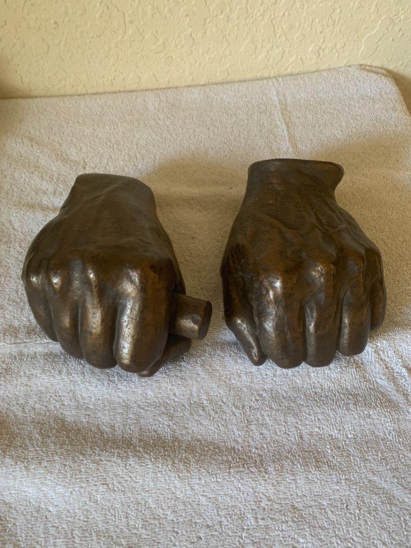 Lot # 199 Replica Fist Of Abraham Lincoln Made in Springfield, ILL Following Nomination To Presidency. Alva Studios