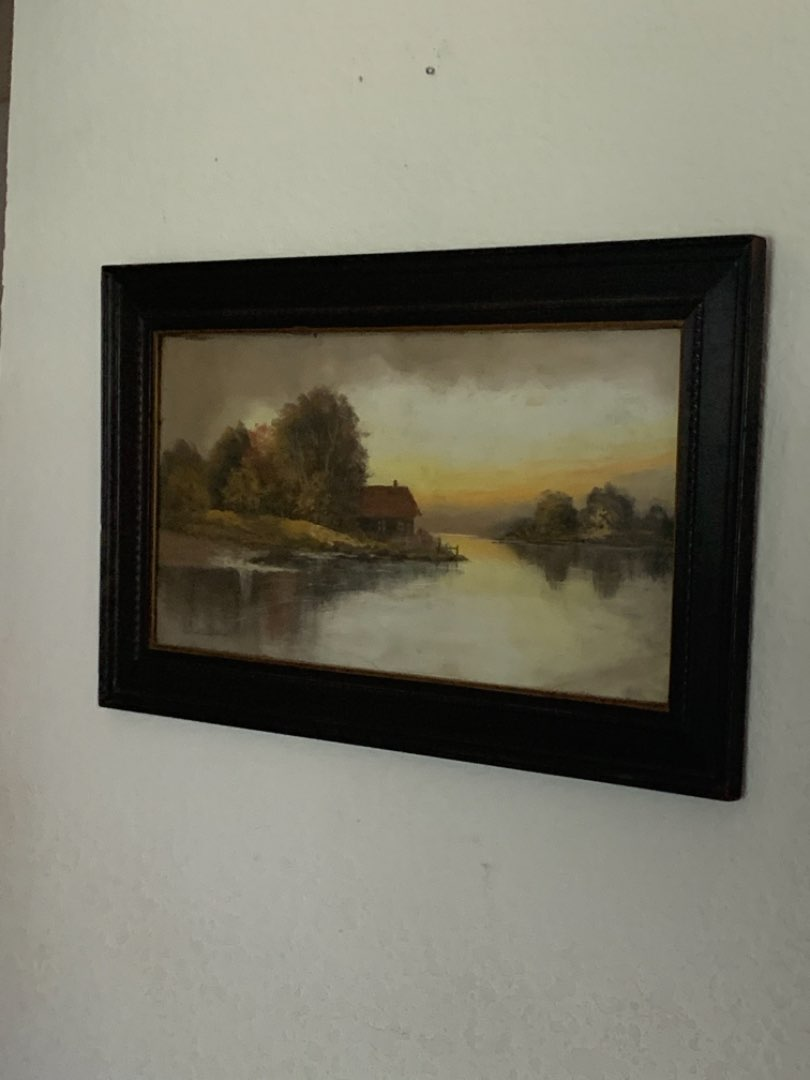 Lot # 202 2nd Of Two Antique Signed Chandler Pastel Paintings. See Below