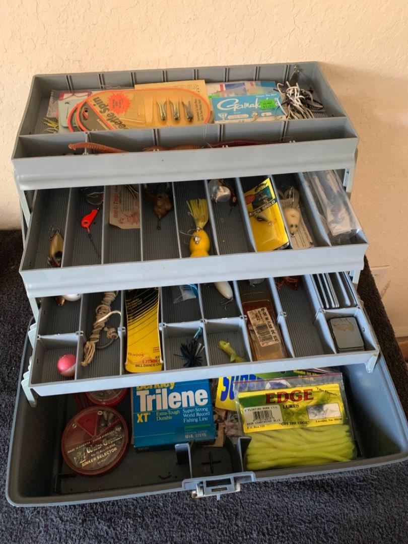 Lot # 205  Nice Plano Tackle Box Full Of Stuff. Look At Pics